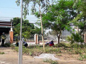 hình ảnh công tác vệ sinh chuẩn bị năm học mới của trường MG Tân Phước